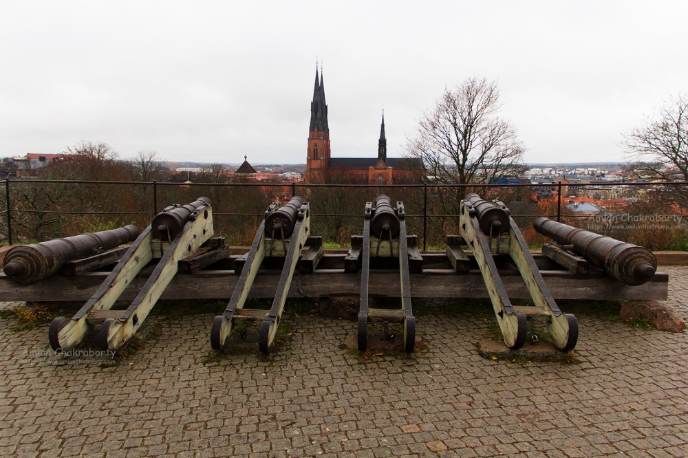Cannons at Uppsala Castle