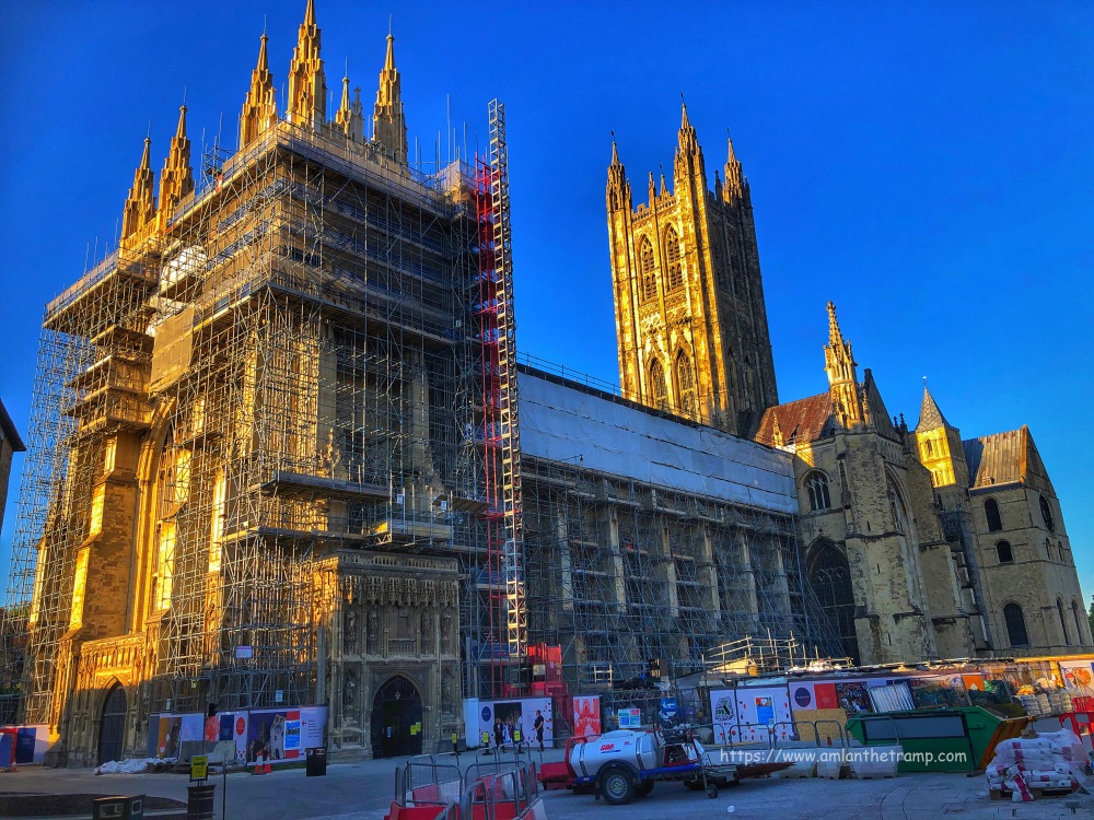 Canterbury Cathedral under mentainance